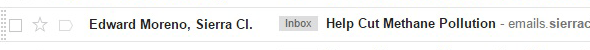 Personalized sender name example