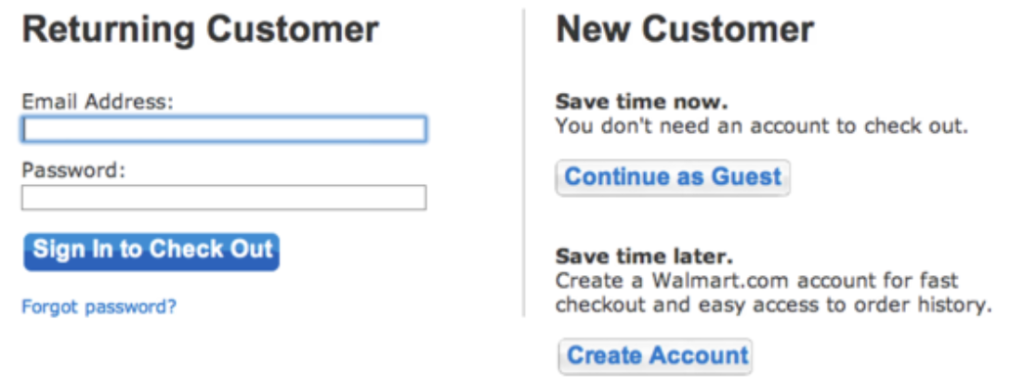 Guest checkout example
