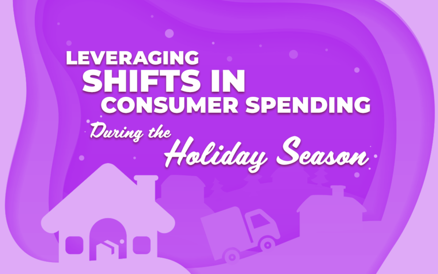 "Title card for ""Leveraging shifts in consumer spending during the holiday season"""