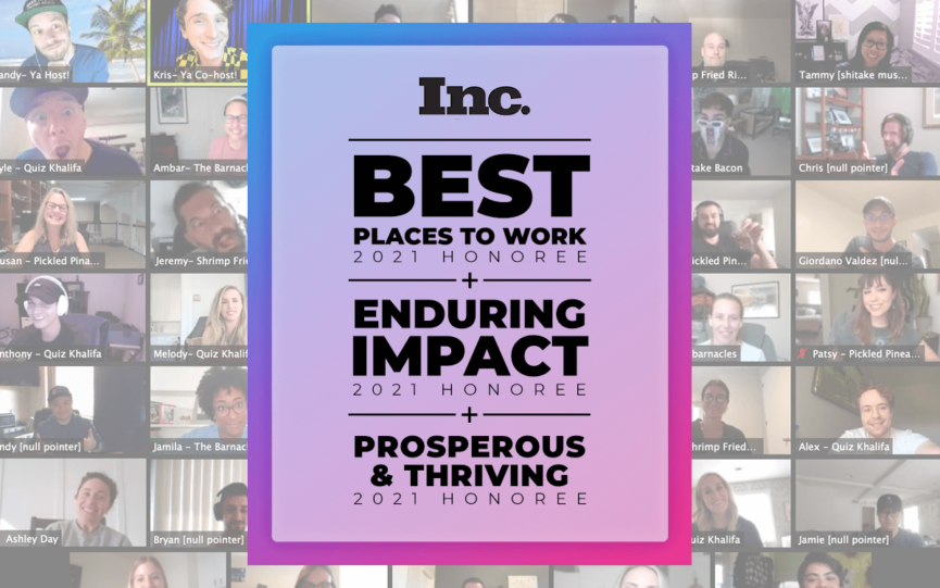 UpSellit Named 2021 Best Workplace by Inc. Magazine
